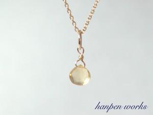 14kgf 11月の誕生石 宝石質 シトリン リング 一粒 ネックレス