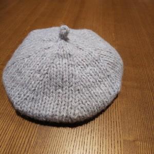 8mm棒針で編む表編みのベレー帽子 編み物キット