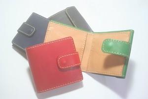 ♪オーダーメイド レザー 本革 2つ折り財布 ハーフウォレット カード収納大容量♪