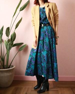 vtg geometric pattern dress