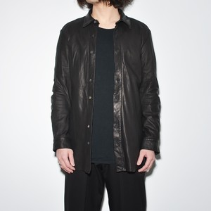 Leather Spiral Shirt 〈Black〉