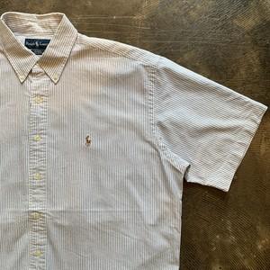 Ralph Lauren ストライプ ボタンダウンシャツ