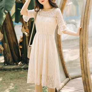 【dress】気質アップレースプルオーバーデートワンピース21083275