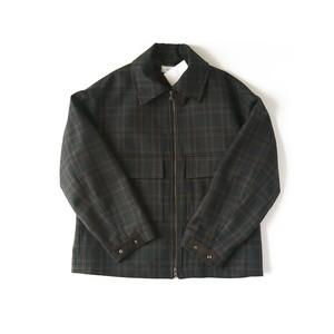 TAUPE Melange wool zip Blouson / TPM20302002