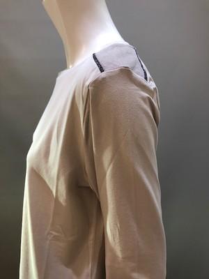 H.A.N.D (ハンド)イタリア製 ロングスリーブTシャツ左肩コンビネーション 35903  0017