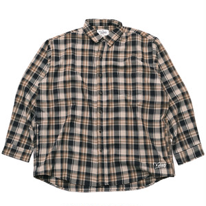 AUTUMN CHECK SHIRT(NAVY*BROWN)