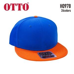 【OTTO】H0978 ウールブレンド フラットバイザーキャップ (スナップバック)