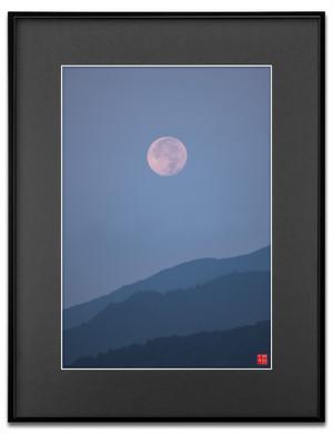 沈む朝月(ブラックボード)A3サイズ