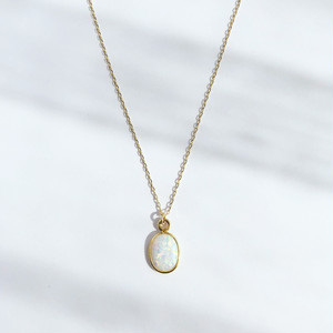 Opal Earth Prism Necklace / K10YG