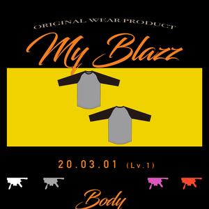 BODY -WHITExBLACK- (3/4 Sleeve TEE)
