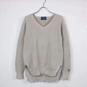 【美品】ORCIVAL / オーチバル   コットンリブニットVネックセーター   1   グレー