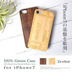 MARUHADAKA for iPhone7 ウッドケース