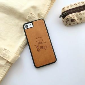 【iPhone12対応!】柴コーヒー ウッド衝撃吸収ケース