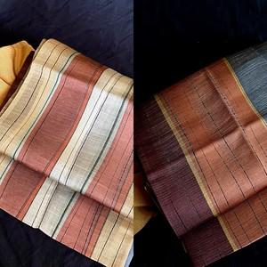〈変わり縞の袋帯〉リバーシブル スタイリッシュ オトナ トール