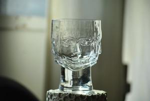 Erik Höglund Glass /Boda /Sweden 1960's エリックホグラン クリスタルグラス ボダ スウェーデン 4つの顔グラス