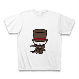 tシャツ 半袖 かわうそ店長×おじぎ(ホワイト)