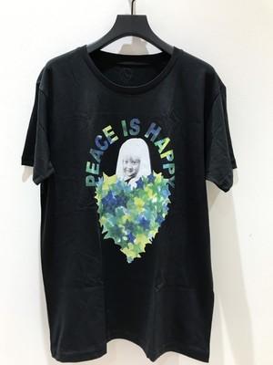 PEACE IS HAPPY Tシャツ  星迷彩  (生地に馴染んでいるプリント)