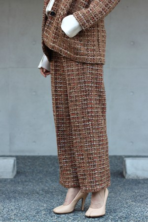 【COOHEM】BLAZER TWEED PANTS-camel