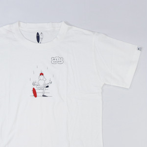 [ WEST SHORE ] Printed Tee ( skater ) - white