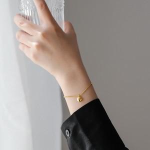 【小物】好感度UP!簡約系 無地 ゴールド色 オトナの可愛い ブレスレット
