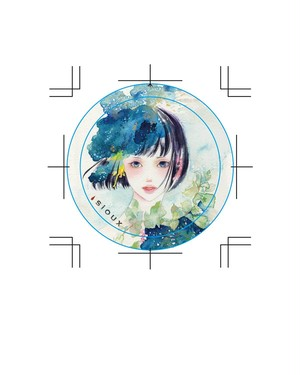 TIN BADGE 缶バッジ [透明な記憶 Sheer memory] / SOLD OUT
