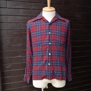 "70's ""TOWNCRAFT"" Tartan Checked  Pattern Open Collar Long Sleeve Shirt / 70年代 [タウンクラフト] タータンチェック柄 長袖 開襟シャツ"