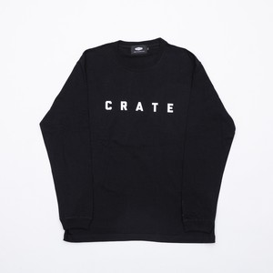New Crate Simple Logo L/S Tee Black
