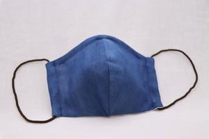 手作りガーゼマスク 大人用(立体)藍染