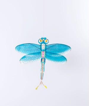 【petit pan】トンボの凧 ブルー Blue dragonfly kite