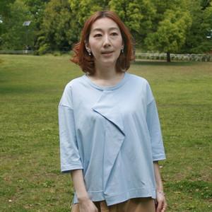 CSTS-298 アシャオーガニック Origamiタック5分袖Tシャツ