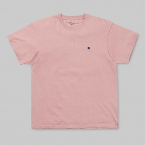 Carhartt S/S Madison T-shirt / SOFT ROSE-SAPPHIRE / サイズS