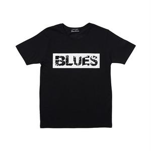 インディーズデザインTシャツ「BLUES」 メンズボックスロゴTシャツ