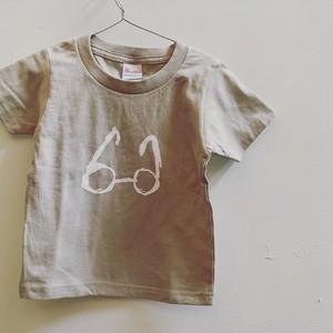 Bagel めがねTシャツ(Gray)