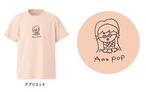 """【最終生産!】アマビエ×@なおポップ=""""Ama pop""""Tシャツ(アプリコット)"""