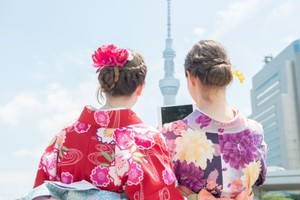 Tokyo Private One Day Kimono Tour (Chartered van for 1 guest up to 8 guests)