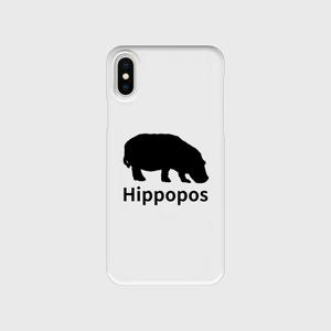 iPhoneクリアケース「Hippopos(ブラック)」