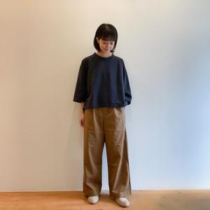 C-30382 Soft Chino Cloth Wide Straight Pants