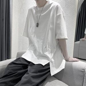 シンプルスリットTシャツ BL8430