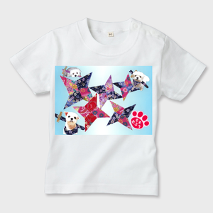ももちゃんの世界009 キッズTシャツ ※お肌にやさしいガーメントインク印刷