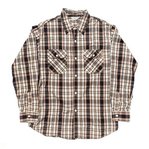 USED Levi's Red Tab L/S check shirts - brown
