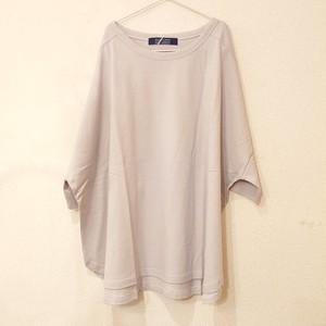 ダブダブおしり隠れカラーTシャツ、袖折り返しに文字デザイン~2色