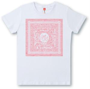#475 Tシャツ BANDANA/REDプリント