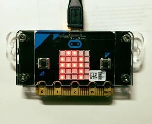 Micro:bit遮光板付ケース(アクリル遮光)