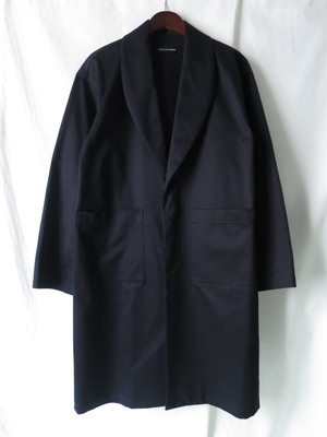 Shawl Collar Coat Navy