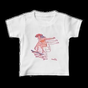 【キッズ】スケート花笠っ子Tシャツ
