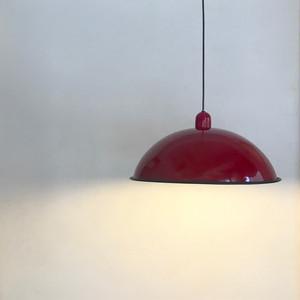 Vintage Metal Pendant Lamp / D. Red 80's オランダ