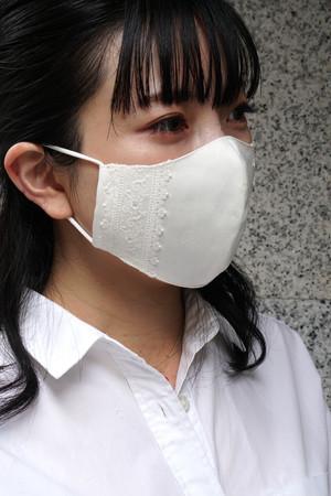 オフィスカジュアルのためのレース付き布マスク