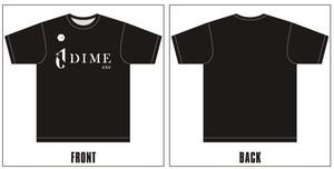 DIME.EXE ユニフォームロゴTシャツ BLACK