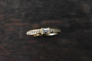 エメラルドカット ダイヤモンドリング 0.207ct / F / VS-2 / K18YG