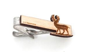 ヴィンテージ ポプラウッド ネクタイピン ディアー Wooden Deer Tie Bar - Poplar